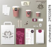 coffee shop corporate identity... | Shutterstock .eps vector #295233878