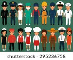 vector icon workers  profession ...   Shutterstock .eps vector #295236758