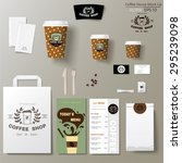 coffee shop corporate identity... | Shutterstock .eps vector #295239098
