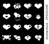 vector white hearts icons set... | Shutterstock .eps vector #295241240