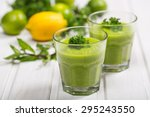 healthy eating  green smoothie  ... | Shutterstock . vector #295243550