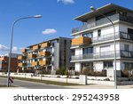 new apartment with balconies | Shutterstock . vector #295243958