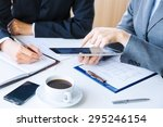 business  working  relationship. | Shutterstock . vector #295246154