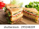sandwich  blt  ham. | Shutterstock . vector #295248209