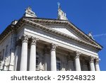 the impressive facade of the... | Shutterstock . vector #295248323