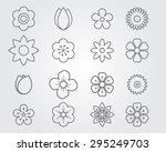 flower grey outline icon set... | Shutterstock .eps vector #295249703