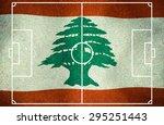 lebanon symbol soccer ball... | Shutterstock . vector #295251443