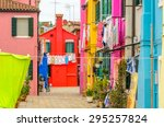 colorful apartment building in... | Shutterstock . vector #295257824