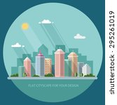landscape   summer cityscape... | Shutterstock .eps vector #295261019