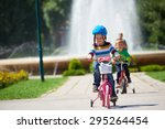 happy little boy have fun in... | Shutterstock . vector #295264454