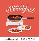 breakfast digital design ... | Shutterstock .eps vector #295271780