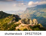 picturesque valley at big bend... | Shutterstock . vector #295275524