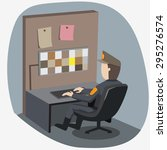 security checking monitor | Shutterstock .eps vector #295276574