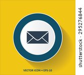 blue vector icon of mail on...   Shutterstock .eps vector #295276844