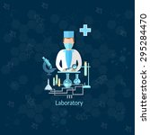 medical research laboratory... | Shutterstock .eps vector #295284470