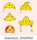 hindu mythological god's crown... | Shutterstock .eps vector #295289003