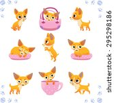 set of cute dogs  breed of... | Shutterstock .eps vector #295298186