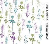 floral seamless pattern with... | Shutterstock .eps vector #295301450