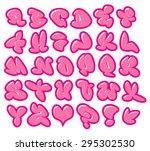 graffiti bubble gum pink vector ... | Shutterstock .eps vector #295302530