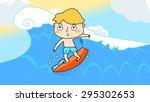 cartoon comic illustration of a ... | Shutterstock .eps vector #295302653