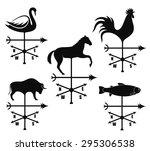 weather vane. vector. eps 10.... | Shutterstock .eps vector #295306538