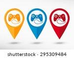 joystick icon map pointer ...