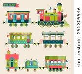 Toy Train. Locomotive With...