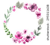 the wreath of flowers... | Shutterstock . vector #295311638