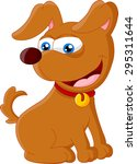 cartoon adorable dog sitting | Shutterstock .eps vector #295311644
