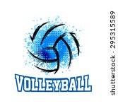 Vector Grunge Volleyball   T...