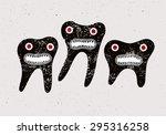 typographic retro grunge dental ... | Shutterstock .eps vector #295316258