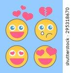 lovestruck smiley set | Shutterstock .eps vector #295318670