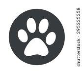 image of paw print in black...