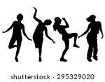 vector silhouettes of women on... | Shutterstock .eps vector #295329020