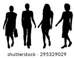 vector silhouettes of women on... | Shutterstock .eps vector #295329029