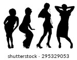 vector silhouettes of women on... | Shutterstock .eps vector #295329053