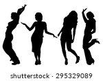vector silhouettes of women on... | Shutterstock .eps vector #295329089