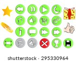 p.c game icons and buttons | Shutterstock .eps vector #295330964