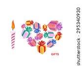 i love gifts. symbol of heart...   Shutterstock .eps vector #295340930