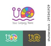 colored stylized snail icon set ...   Shutterstock .eps vector #295341929