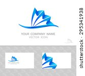 abstract vector logo set ... | Shutterstock .eps vector #295341938