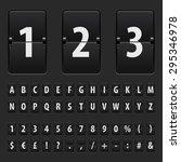 flip black scoreboard letters ... | Shutterstock .eps vector #295346978