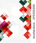 square shape mosaic pattern... | Shutterstock .eps vector #295350200
