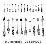 set of hand drawn  vector... | Shutterstock .eps vector #295354028