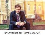 handsome mature caucasian... | Shutterstock . vector #295360724