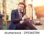 handsome mature caucasian... | Shutterstock . vector #295360784