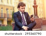 handsome mature caucasian... | Shutterstock . vector #295360790