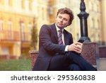 handsome mature caucasian... | Shutterstock . vector #295360838