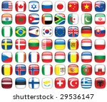 set of world flags. all... | Shutterstock .eps vector #29536147