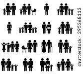 heterosexual family icons set... | Shutterstock .eps vector #295368113